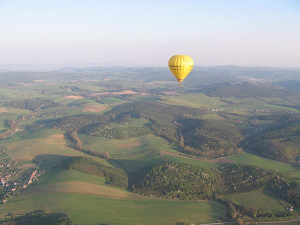 Výhľad z balónu